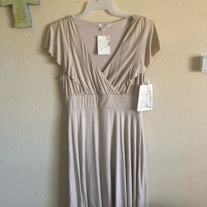 Boston proper flutter slv v-neck dress